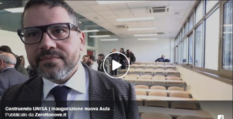Costruendo UNISA, inaugurata la nuova Aula didattica di Ingegneria