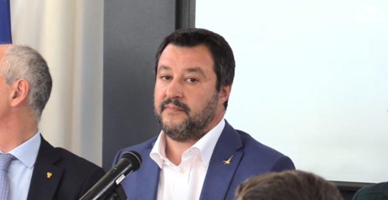 """Battipaglia, Salvini: """"no mascherina con 40°"""". Le dichiarazioni per le elezioni"""