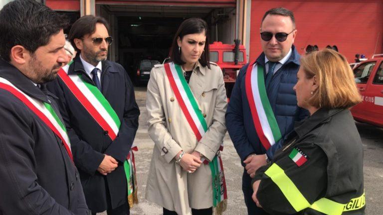 I Sindaci della Valle dell'Irno al Comando Provinciale dei Vigili del Fuoco