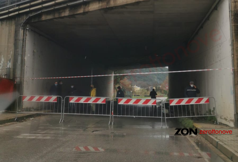 Battipaglia, interdetto il sottopasso in direzione Olevano