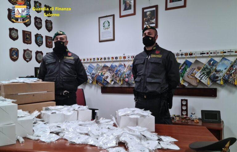 Dispositivi Covid irregolari: sequestri a Salerno, Cava, Fisciano e Giffoni