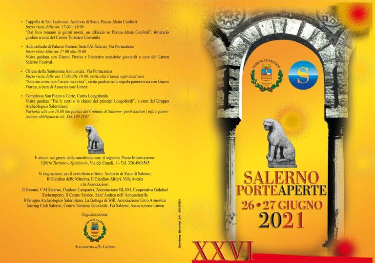 Salerno Porte Aperte 2021: edizione speciale San Matteo. Il programma