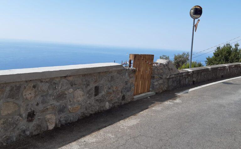 Costiera Amalfitana, continuano i lavori di messa in sicurezza delle strade