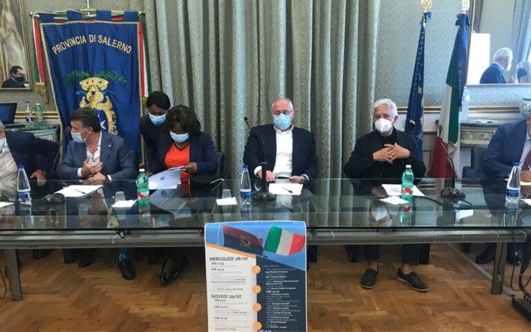 Salerno, delegazione angolana incontra Strianese ed il sindaco Napoli