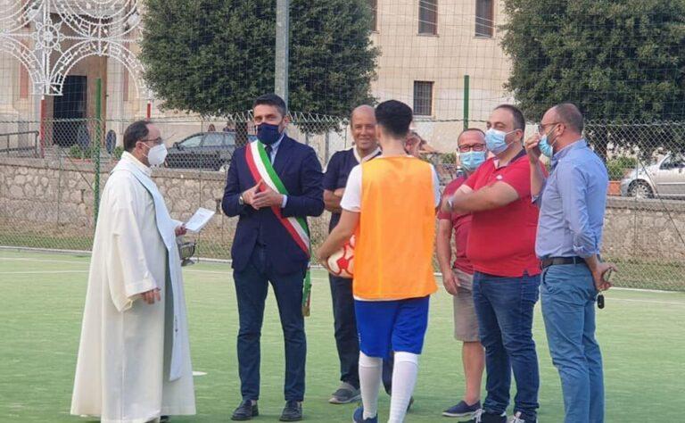 Mercato San Severino, inaugurato stamattina il campo di calcio a 5