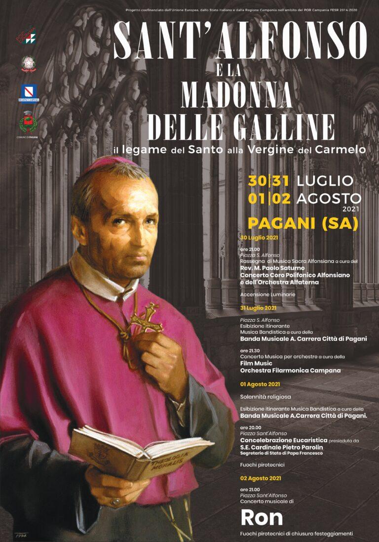 Pagani, al via oggi i festeggiamenti civili in onore di Sant'Alfonso Maria De Liguori
