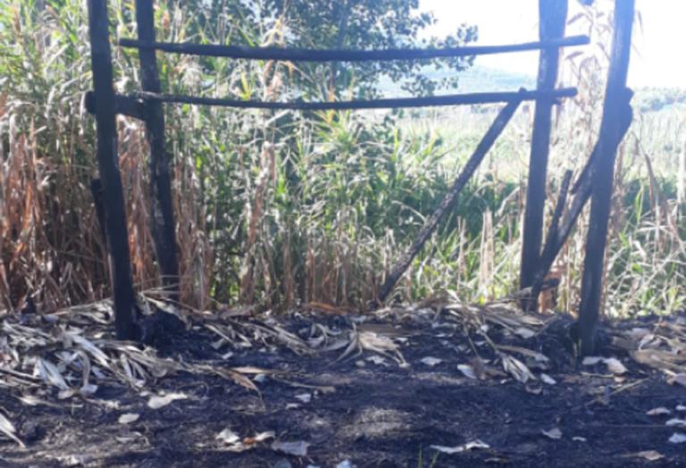 Sarno: incendio nell'oasi naturalistica
