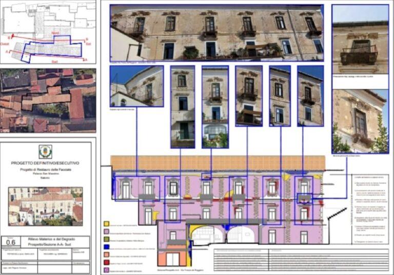 Salerno, iniziano lunedì i lavori a Palazzo San Massimo