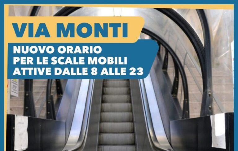 Salerno, le scale mobili di via Monti aperte fino alle 23:00