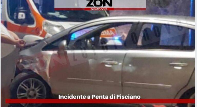 Fisciano, incidente nella frazione Penta: 3 persone coinvolte e ferite