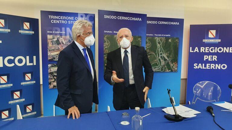 De Luca presenta i progetti per Salerno finanziati dalla Regione