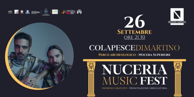 Nocera Superiore, Colapesce-Di Martino in concerto il 26 settembre