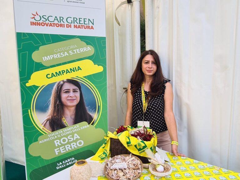 Oscar Green: il Cilento sul tetto d'Italia con il foglio di carta all'aglio